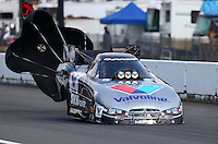 Aug. 2, 2014; Kent, WA, USA; NHRA funny car driver Jack Beckman during qualifying for the Northwest Nationals at Pacific Raceways. Mandatory Credit: Mark J. Rebilas-