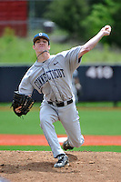 Connecticut Huskies pitcher Brian Ward (45) during game against Rutgers Scarlet Knights at Bainton Field in Piscataway, New Jersey;  May 01, 2011.  Connecticut defeated Rutgers 6-2.  Photo By Tomasso DeRosa/Four Seam Images