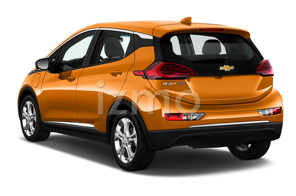 Car pictures of rear three quarter view of a 2019 Chevrolet Bolt EV LT 5 Door Hatchback angular rear