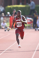 4 May 2008: Stanford Cardinal Tyrone McGraw during Stanford's Payton Jordan Cardinal Invitational at Cobb Track & Angell Field in Stanford, CA.