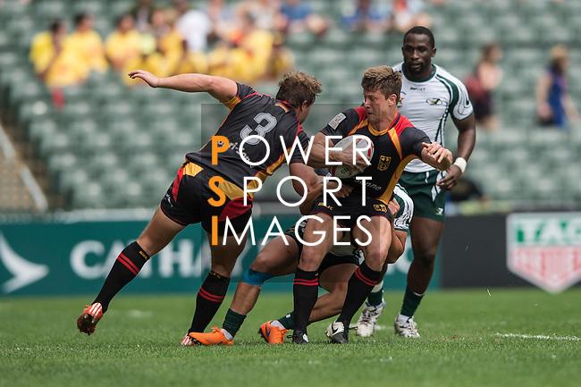 Germany vs Zimbabwe at the HSBC Hong Kong Rugby Sevens 2016 on 08 April 2016 at Hong Kong Stadium in Hong Kong, China. Photo by Li Man Yuen / Power Sport Images