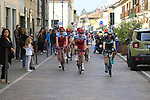 Team Katusha Alpecin arrive for the start of the 99th edition of Milan-Turin 2018, running 200km from Magenta Milan to Superga Basilica Turin, Italy. 10th October 2018.<br /> Picture: Eoin Clarke | Cyclefile<br /> <br /> <br /> All photos usage must carry mandatory copyright credit (© Cyclefile | Eoin Clarke)