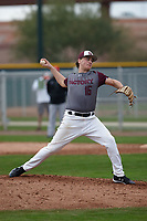 Scott Elgin (16) of Hoover High School in Hoover, Alabama during the Under Armour All-American Pre-Season Tournament presented by Baseball Factory on January 15, 2017 at Sloan Park in Mesa, Arizona.  (Kevin C. Cox/MJP/Four Seam Images)