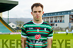 Jack Barry, (Captain) St. Brendan's Board before the Kerry County Senior Football Championship Semi-Final match between East Kerry and St Brendan's at Austin Stack Park in Tralee, Kerry.