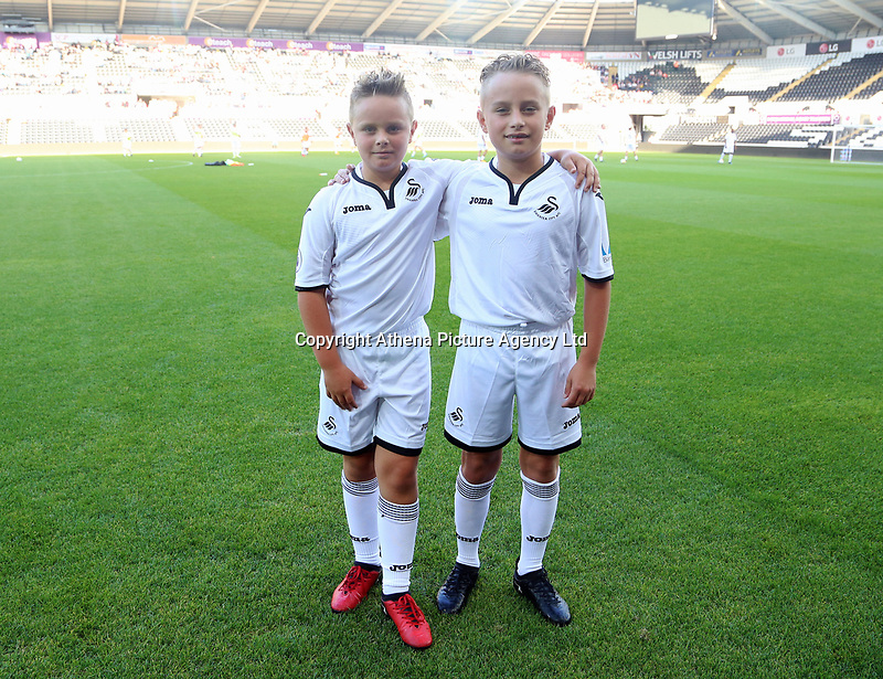Ferrie Bodde's two sons during the Alan Tate Testimonial Match, Swansea City Legends v Manchester United Legends at the Liberty Stadium, Swansea, Wales, UK