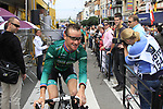 Thomas Voeckler (FRA) Team Europcar at sign on before the start of Stage 2 of the 99th edition of the Tour de France 2012, running 207.5km from Vise to Tournai, Belgium. 2nd July 2012.<br /> (Photo by Eoin Clarke/NEWSFILE)