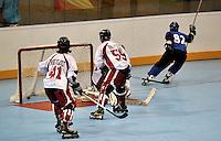 CALI – COLOMBIA – 29-07-2013: Partido de Hockey en Linea entre Italia y Canada durante los IX Juegos Mundiales Cali, julio 29 de 2013. (Foto: VizzorImage / Luis Ramirez / Staff). Match of Hockey in Line between Italy and Canada in the IX World Games Cali, July 29, 2013. (Photo: VizzorImage / Luis Ramirez / Staff).