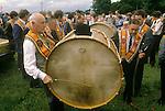 Protestant Orangemen at an Orange Day Parade Belfast 1980s