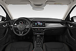 Stock photo of straight dashboard view of a 2019 Skoda Scala  Ambition 5 Door Hatchback