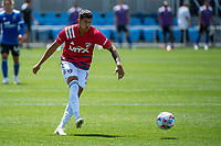 SAN JOSE, CA - APRIL 24: Andres Ricaurte #10 of FC Dallas shoots the ball during a game between FC Dallas and San Jose Earthquakes at PayPal Park on April 24, 2021 in San Jose, California.