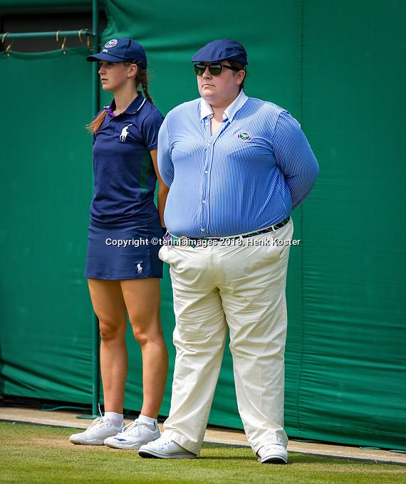 London, England, 5 th. July, 2018, Tennis,  Wimbledon, Womans doubles: linesman<br /> Photo: Henk Koster/tennisimages.com