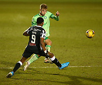 10th February 2021; St Mirren Park, Paisley, Renfrewshire, Scotland; Scottish Premiership Football, St Mirren versus Celtic; Stephen Welsh of Celtic clears from Jon Obika of St Mirren