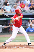 Yunesky Sanchez of Team Spain at bat during a game against Team Israel during the World Baseball Classic preliminary round at Roger Dean Stadium on September 21, 2012 in Jupiter, Florida. Team Israel defeated Team Spain 4-2. (Stacy Jo Grant/Four Seam Images)
