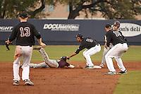 SAN ANTONIO, TX - MARCH 15, 2016: The University of Texas at San Antonio Roadrunners defeat the Texas State University Bobcats 14-7 at UTSA Roadrunner Field. (Photo by Jeff Huehn)