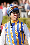 Martin Garcia heading into the paddock for the Bing Crosby Stakes (G1) at Del Mar Race Course in Del Mar, California on July 29, 2012.