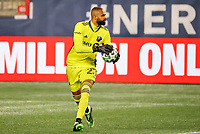 20th November 2020; Foxborough, MA, USA;  Montreal Impact goalkeeper Clement Diop during the MLS Cup Play-In game between the New England Revolution and the Montreal Impact