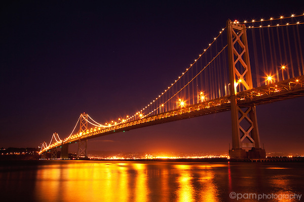 Nighttime at San Francisco's Bay Bridge