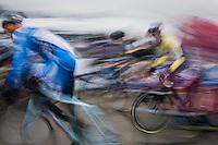 motion blurred start action<br /> <br /> GP Sven Nys 2017