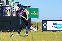 18th July 2021; Royal St Georges Golf Club, Sandwich, Kent, England; The Open Championship,  Golf, Day Four; Jordan Speith (USA) hits his tee shot art the par three 6th hole