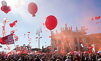 20141025 ROMA-CRONACA: LA CGIL IN PIAZZA CONTRO IL JOBS ACT DI RENZI