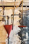 Vintage, old, plumbing of steam geneator,steam turbine, Seattle, WA, Georgetown Steam Plant, a National Historic Landmark in Seattle, WA USA