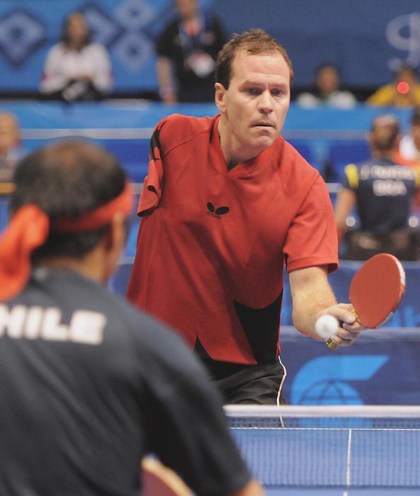 Martin Pelletier, Guadalajara 2011 - Para Table Tennis // Paratennis de table.<br /> Martin Pelletier competes in table tennis // Martin Pelletier fait du tennis de table. 11/14/2011.