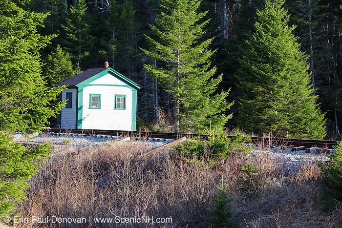 Crawford Notch State Park - Shed along the Maine Central Railroad during the spring months in the White Mountains, New Hampshire USA