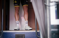 pre-race guns up the Mitchelton-Scott teambus<br /> <br /> 103rd Ronde van Vlaanderen 2019<br /> One day race from Antwerp to Oudenaarde (BEL/270km)<br /> <br /> ©kramon