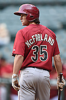 Arizona Diamondbacks outfielder Dane McFarland (35) during an Instructional League game against the Oakland Athletics on October 10, 2014 at Chase Field in Phoenix, Arizona.  (Mike Janes/Four Seam Images)