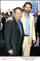 """Jun 26, 2003; Paris, Ile de France, FRANCE; Director Ang LEE and Actor Eric BANA - Premiere of the Ang LEE's Movie """" HULK """" in Paris, at the Cinema UGC Cine Cite Bercy.<br /> Mandatory Credit: Photo by STEPH / VISUAL Press Agency .<br /> (©) Copyright 2003 by VISUAL Press Agency"""