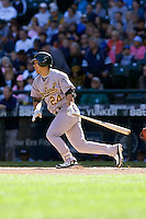 September 28, 2008: Oakland Athletics catcher Kurt Suzuki at-bat during a game against the Seattle Mariners at Safeco Field in Seattle, Washington.