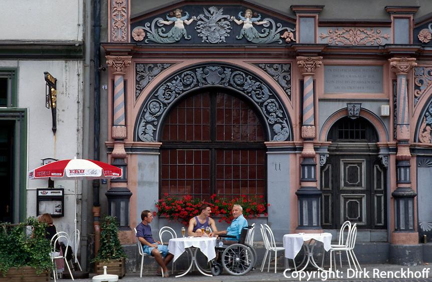Deutschland, Thüringen, Cranachhaus am Markt in Weimar, UNESCO-Weltkulturerbe