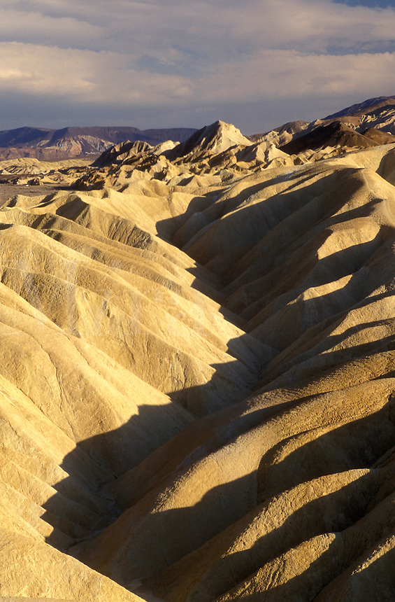 Death Valley, California, Mojave Desert, CA, View of the badlands from Zabriskie Point in Death Valley National Park.
