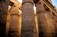 Colonnade in the Karnak Temple Complex at Luxor, Egypt.
