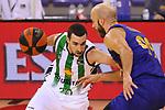 League ACB-ENDESA 2020/2021.Game 15.<br /> FC Barcelona vs Club Joventut Badalona: 88-74.<br /> Ferran Bassas vs Nick Calathes.