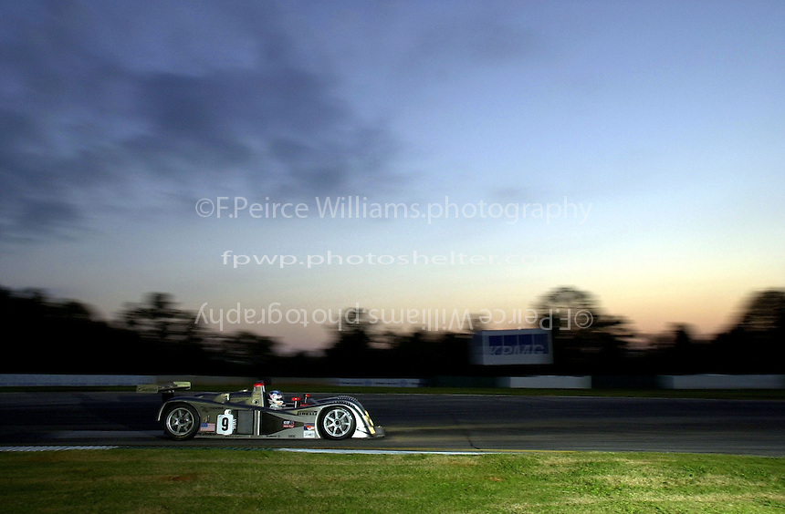 Petit Le Mans, Road Atlanta, Brazelton,GA,USA .30 September,2000  copyright©F.Peirce Williams 2000.The #9 Cadillac LMP..