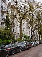 Gründerzeit Haus, Husumer Straße in Hamburg-Hoheluft-Ost, Deutschland, Europa<br /> tenement early 20th c c. , Husumer St. in Hamburg-Hoheluft-Ost, Germany, Europe
