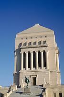 Indiana War Memorial Shrine building in downtown Indianapolis, Indiana. Indianapolis Indiana.