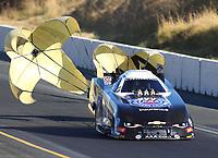 Jul 29, 2017; Sonoma, CA, USA; NHRA funny car driver Robert Hight during qualifying for the Sonoma Nationals at Sonoma Raceway. Mandatory Credit: Mark J. Rebilas-USA TODAY Sports