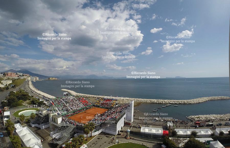 - NAPOLI 6 APR -   Terza  giornata della sfida di Coppa Davis tra Italia e Gran Bretagna, nella foto   L'Arena del Mare