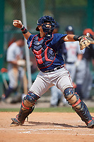 Atlanta Braves Jonathan Morales (89) during a minor league Spring Training game against the Detroit Tigers on March 25, 2017 at ESPN Wide World of Sports Complex in Orlando, Florida.  (Mike Janes/Four Seam Images)