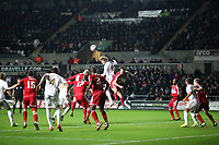 League Cup Quarter Final, Swansea V Middlesbrough, Liberty Stadium, 12/12/12<br /> Picture by: Ben Wyeth<br /> Pictured: (L-R) Seb Hines, Chico Flores, Lukas Jutkiewicz, Andre Bikey, Michu.<br /> Athena Picture Agency