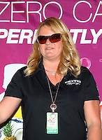 Feb 6, 2015; Pomona, CA, USA; Team owner Connie Dote for NHRA top fuel driver Leah Pritchett (not pictured) during qualifying for the Winternationals at Auto Club Raceway at Pomona. Mandatory Credit: Mark J. Rebilas-