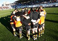 Photo: Richard Lane/Richard Lane Photography. RC Toulon v Wasps.  European Rugby Champions Cup. 17/01/2016. Wasps huddle.