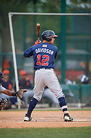 Atlanta Braves Braxton Davidson (12) during a minor league Spring Training game against the Detroit Tigers on March 25, 2017 at ESPN Wide World of Sports Complex in Orlando, Florida.  (Mike Janes/Four Seam Images)