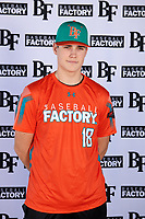 Garrett James (18) of Fort Bragg High School in Fort Bragg, California during the Baseball Factory All-America Pre-Season Tournament, powered by Under Armour, on January 12, 2018 at Sloan Park Complex in Mesa, Arizona.  (Mike Janes/Four Seam Images)