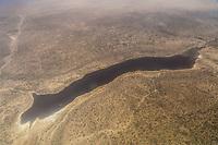 Tanzania. Lake Eyasi Aerial View between Serengeti South Airstrip and Arusha.