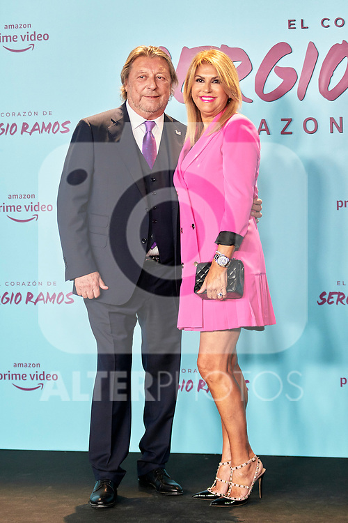 Jose Maria Ramos and Paqui Ramos in the world preview of EL CORAZÓN DE SERGIO RAMOS, documentary series about the life of the captain of Real Madrid and the Spanish Soccer Team, at the Reina Sofía Museum on September 10, 2019 in Madrid, Spain.<br />  (ALTERPHOTOS/Yurena Paniagua)