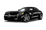 Stock pictures of low aggressive front three quarter view of 2016 Mercedes Benz AMG-GT AMG-GT-S 3 Door Coupe Low Aggressive