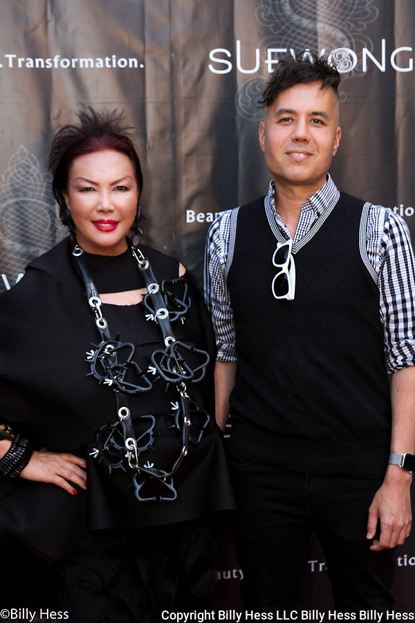 Iconic designer Sue Wong's Birthday Red Carpet  Celebrity Celebration with son Josh Homann